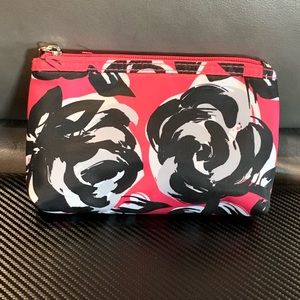 🌟Black & Pink Rose makeup bag